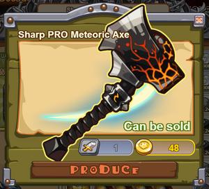 Sharp PRO Meteoric Axe