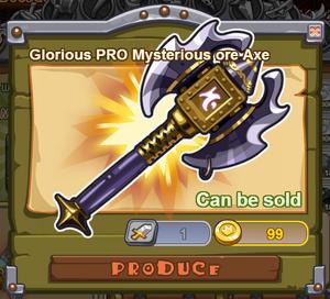 Glorious PRO Mysterious Ore Axe
