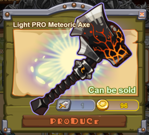 Light PRO Meteoric Axe