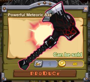 Powerful Meteoric Axe