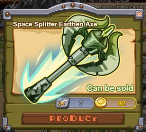 Space Splitter Earthen Ax
