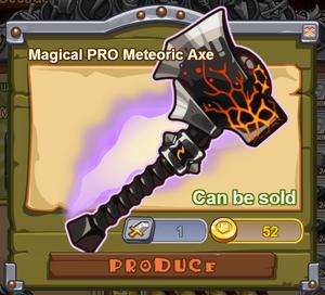 Magical PRO Meteoric Axe