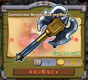 Gemstones Mysterious Ore Axe