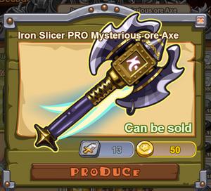 Iron Slicer PRO Mysterious Axe