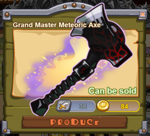 Grand Master Meteoric Axe