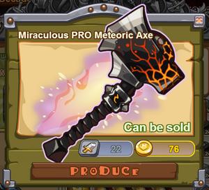 Miraculous PRO Meteoric Axe