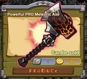 Powerful PRO Meteoric Axe