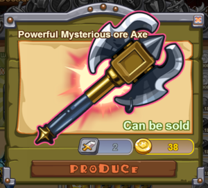 Powerful Mysterious Ore Axe