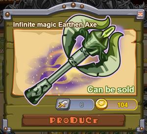 Infinite Magic Earthen Axe