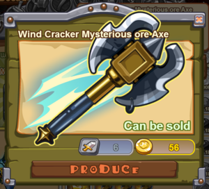 Wind Cracker Mysterious Ore Axe