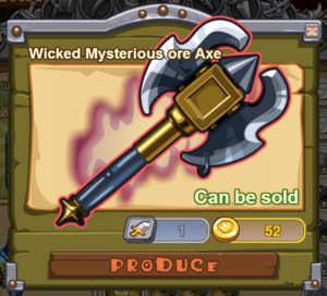 Wicked Mysterious Ore Axe
