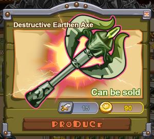Destructive Earthen Axe