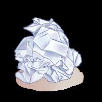 Trash Wrinkled Notes