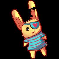 Stuffed Pirate Bunny