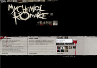 My Chemical Romance main page(6th December 2007)