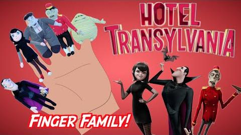 HOTEL TRANSYLVANIA - Finger Family Song Nursery Rhyme Toy PARODY Finger Family Fun