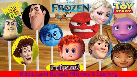 Inside Out Hotel Transylvania 2 Toy Story Finger Family Song Nursery Rhymes Daddy Finger