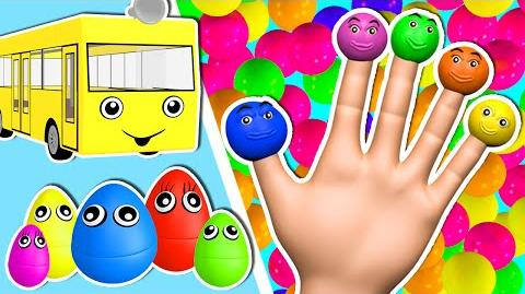 Learn Colors Ball Pit Show 3D Finger Family & More Surprise Eggs Nursery Rhymes Songs for Children