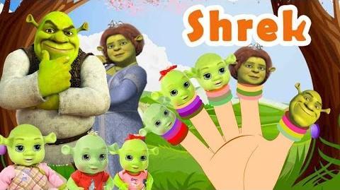 SHREK Finger Family Nursery Rhymes for children and babies MY FINGER FAMILY RHYMES