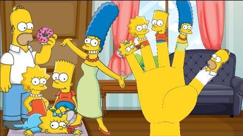 The Simpsons Finger Family Nursery Rhyme