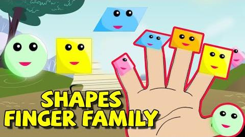 Finger Family Shapes Rhyme Daddy Finger Family Song Cartoon Rhymes for Children