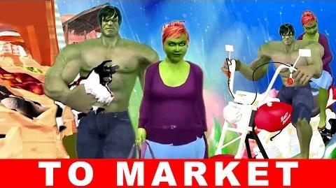 Hulk To Market Rhyme for Babies Cartoon Kids Rhyme 3d Animated Nursery Rhyme
