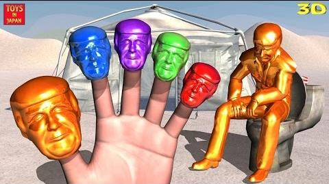 DONALD TRUMP CANDY GO TO THE TOILET AND FART Finger Family Nursery Rhymes In 3D Animation