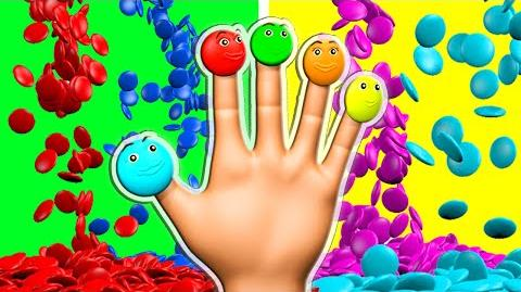 Learn Colors 3D Candy Finger Family and more Surprise Eggs Nursery Rhymes Color Songs for Kids