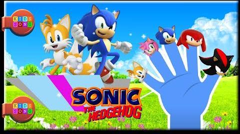 Sonic finger family - nursery rhme for kids