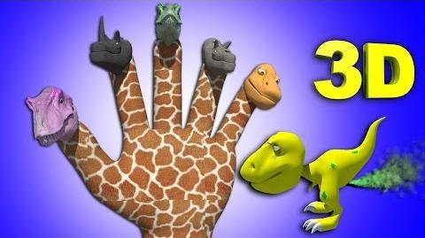 Finger Family Crazy Dinosaur Family Nursery Rhyme Funny Finger Family Songs For Children In 3D