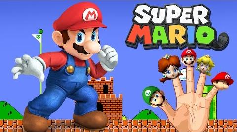 Finger Family Nursery Rhymes Super Mario Cartoon Finger Family Rhymes for Children Animated