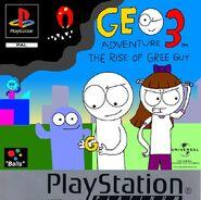 Geo Adventure 3 PS1 cover Platinum