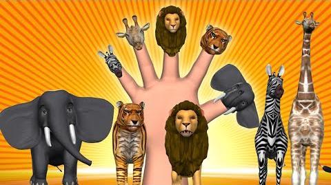 Animal Finger Family - Finger Family Song - 3D Animation Nursery Rhymes & Songs for Children