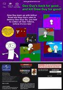 Geo Adventure Gree Guy's Returns GameCube back cover NTSC