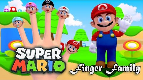 Super Mario Bros 3D Finger Family Nursery Rhymes 3D Animation In HD From Binggo Channel