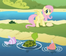 130px-Fluttershy at the lake s01e05