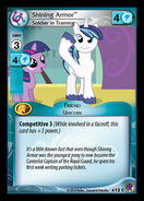 Shining Armor, Soldier in Training
