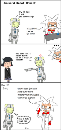 Awkward robot moment