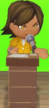 Talk on da podium