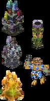 Wubbox torch castles