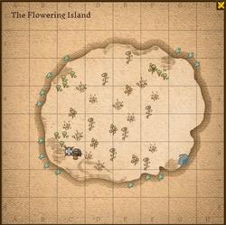 Flowering island map