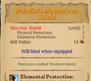 Paladin's Mysterious Shield