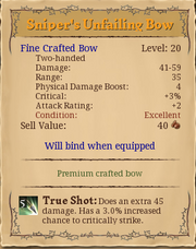 Sniper's unfailing bow