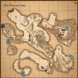 Traven isles map