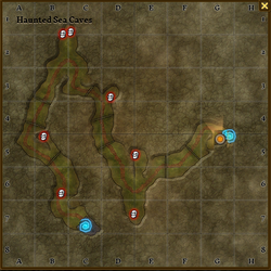 Haunterd sea caves map