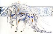 Nene thomas carousel horse 1 - angel white