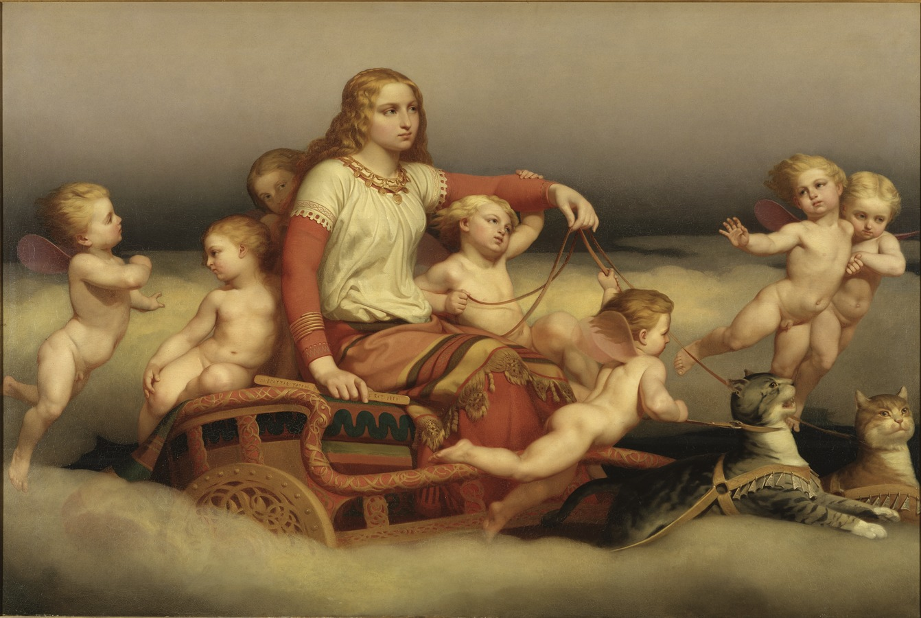 File:Freyja and cats and angels by Blommer.jpg