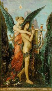250px-Moreau, Gustave - Hésiode et la Muse - 1891