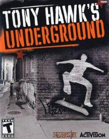 Tony Hawk's Underground PlayStation2 box art cover