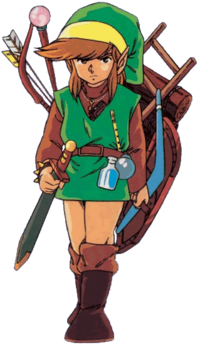 File:Link LOZ with items.png